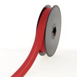 biais polycoton 20mm rouge