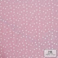 Tissu Double gaze coton abeilles X10cm - rose  - 4Double Gaze abeilles -rose 100%coton Raccord : 10cm Laize d'1m35 Le tissu es