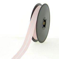 Biais polycoton 20mm - rose poudré  - 1Biaisrosepoudré Largeur 20mm 50% coton - 50% polyester 1 unité = 0m50; pour plusieurs