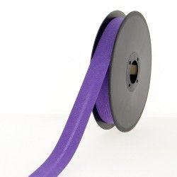 Biais polycoton 20mm - violet  - 1Biaisviolet Largeur 20mm 50% coton - 50% polyester 1 unité = 0m50; pour plusieurs longueurs