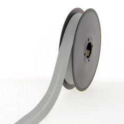 Biais polycoton 20mm - gris souris  - 1Biaisgrissouris Largeur 20mm 50% coton - 50% polyester 1 unité = 0m50; pour plusieurs