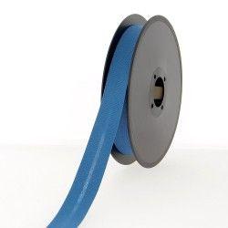 biais polycoton 20mm bleu canard