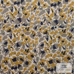 Tissu ameublement polycoton Camouflage X10cm - ocre  - 1Tissu coton d'ameublement Camouflage -ocre 80% coton - 20% polyester Ra