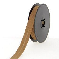 Biais polycoton 20mm - fauve  - 1Biais fauve Largeur 20mm 50% coton - 50% polyester 1 unité = 0m50; pour plusieurs longueurs ac