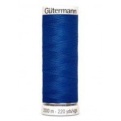 Bobine de fil bleu 316 Gütermann 200m polyester pour tout coudre Gütermann - 1Bobine de filbleu roi coloris 316 Bobine de 200m,