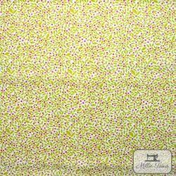 Tissu coton Botanique - Feuillage X10cm - blanc  - 4Tissucoton Botanique -Feuillage- Blanc 100% coton - Bio GOTS Raccord 14 c