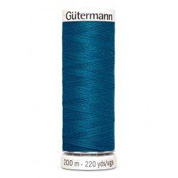 Bobine de fil bleu canard 483 Gütermann 200m polyester pour tout coudre Gütermann - 1Bobine de filbleu canard coloris 483 Bobin