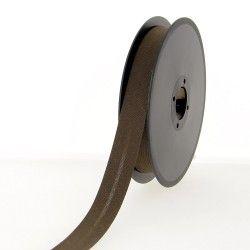 Biais polycoton 30mm - chocolat  - 1Biais chocolat Largeur 30mm 50% coton - 50% polyester 1 unité = 0m50; pour plusieurs longue