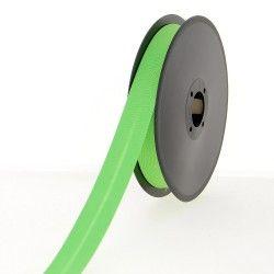 Biais polycoton 20mm - vert pomme  - 1Biais vert pomme Largeur 20mm 50% coton - 50% polyester 1 unité = 0m50; pour plusieurs lo