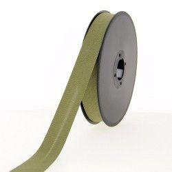 Biis polycoton 20mm vert kaki