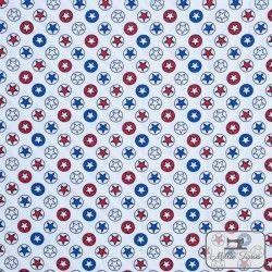 Tissu popeline étoiles x10cm - Blanc  - 1Tissu popelineEtoiles - Blanc 100% coton Certifié Oeko-Tex Hauteur motif : 1cm Laize d