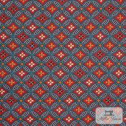 Tissu popeline abstrait x10cm - pétrole  - 1Tissu popelineabstrait -pétrole 100% coton Certifié Oeko-Tex Raccord : 15,5cm Laiz