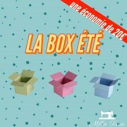Box surprise été  - 1Retrouvez la première box surprise MillieTissus, aux couleurs de l'été.Elle est composée de tissu viscose,