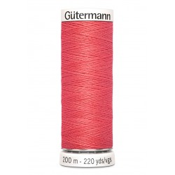 Bobine de fil corail 927 Gütermann 200m polyester pour tout coudre Gütermann - 1Bobine de fil corail coloris927 Bobine de 200m,