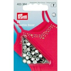 Rivets décoratifs Ø5mm Prym - blanc Prym - 1Rivets décoratifs - brillant Diamètre : 5mm Pose : attache parisienne