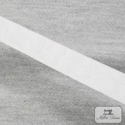 Elastique lingerie 19mm - blanc  - 1Elastique pour lingerie - blanc 19mm dehauteur 50% Polyamide - 30% polyester - 20% élasthan