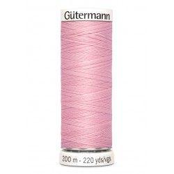 Bobine de fil rose 660 Gütermann 200m polyester pour tout coudre Gütermann - 1Bobine de filrose coloris 660 Bobine de 200m, pol