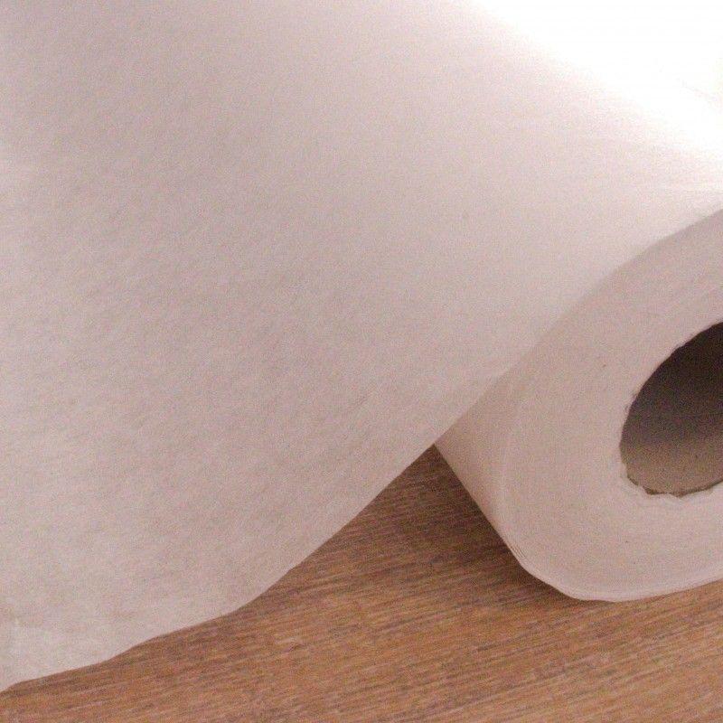 Entoilage léger thermocollant X10cm - intissé blanc  - 1Entoilage intissé thermocollant - blanc Laize de 0m90 100% polyamide - E