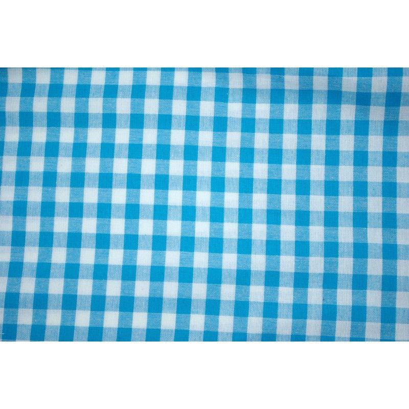 Tissu vichy carreaux 10 mm X10cm - turquoise  - 1Tissu vichyturquoise 100% coton, certifié OekoTex Laize d'1m47 Dimension du ca