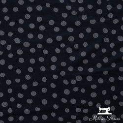 Tissu jersey les points X10cm - Gris  - 1Tissu jersey les points - gris 95%viscose - 5% élasthanne Laize d'1m50 certifié Oeko