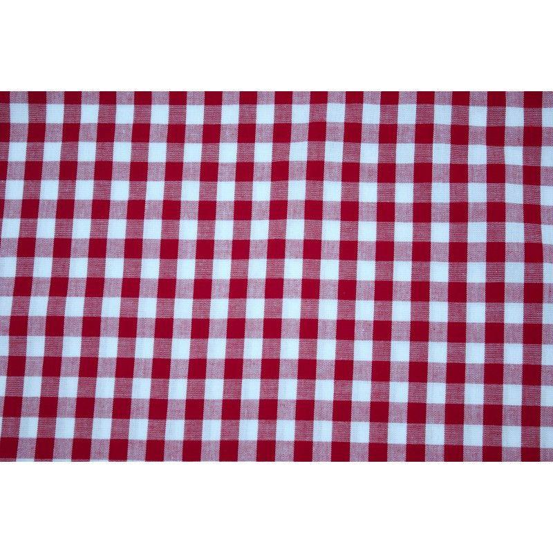 Tissu vichy carreaux 10 mm X10cm - rouge  - 1Tissu vichy rouge 100% coton, certifié OekoTex Laize d'1m47 Dimension du carreau: 1