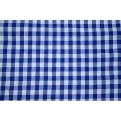 Tissu vichy carreaux 10 mm X10cm - bleu roi  - 1Tissu vichy bleu roi 100% coton, certifié OekoTex Laize d'1m47 Dimension du carr