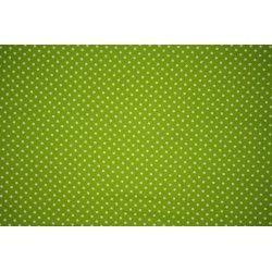 Tissu coton mini pois X10cm - vert  - 1Tissumini pois blanc sur fond vert pomme 100% coton Laize d'1m40 - dimension du pois : 5