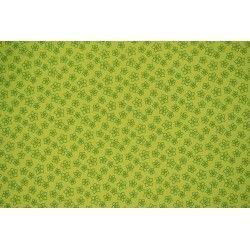 Popeline à fleurs X10cm - vert  - 1Tissupopeline de coton vert 100% coton - certifié OekoTex Laize d'1m40 - dimension de la fle