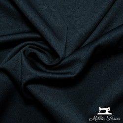 Tissu crêpe épais uni X10cm - Noir  - 1Tissucrêpe épais-noir 95% polyester - 5% élasthanne Certifié OekoTex Laize d'1m50 L