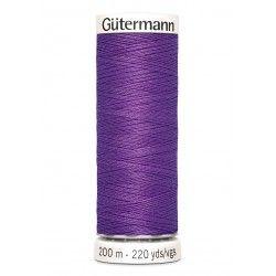 Bobine de fil violet 571 Gütermann 200m polyester pour tout coudre Gütermann - 1Bobine de filviolet coloris 571 Bobine de 200m,