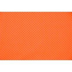 Popeline mini étoiles ton sur ton orange