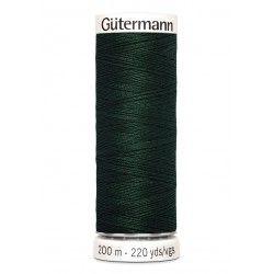 Bobine de fil vert sapin 472 Gütermann 200m polyester pour tout coudre Gütermann - 1Bobine de fil vert sapin coloris 472 Bobine