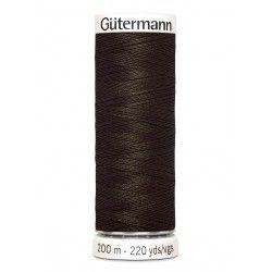 Bobine de fil marron 674 Gütermann 200m polyester pour tout coudre Gütermann - 1Bobine de fil marron coloris 674 Bobine de 200m,