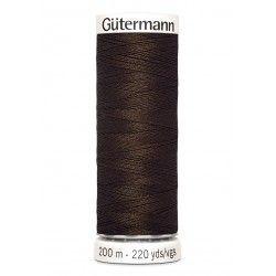 Bobine de fil marron 406 Gütermann 200m polyester pour tout coudre Gütermann - 1Bobine de fil marron coloris 406 Bobine de 200m,