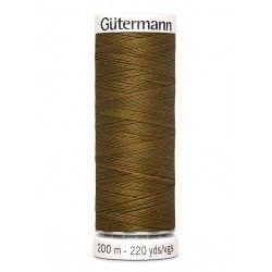 Bobine de fil marron 288 Gütermann 200m polyester pour tout coudre Gütermann - 1Bobine de fil marron coloris 288 Bobine de 200m,