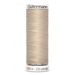 Bobine de fil beige 722 Gütermann 200m polyester pour tout coudre Gütermann - 1Bobine de fil beige coloris 722 Bobine de 200m, p