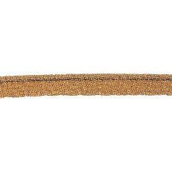 Passepoil lamé cuivre  - 1Passepoil lamécuivre 70% polyester , 30% lamé métallisé Largeur : 10 mm 1 unité = 0m50 ; pour plusieu
