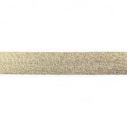 Biais lamé 20mm - doré  - 1Biaislamé - doré 20mm de largeur 80% polyester , 20% lurex 1 unité = 0m50; pour plusieurs longueurs
