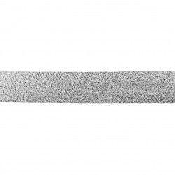 Biais lamé 20mm - argent  - 1Biaislamé - argent 20mm de largeur 80% polyester , 20% lurex 1 unité = 0m50; pour plusieurs longu