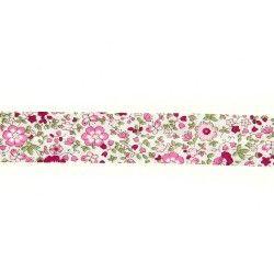 Biais à petites fleurs - rose