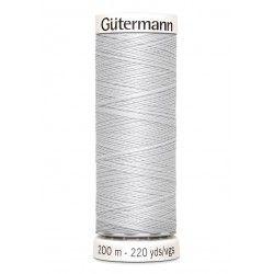 Bobine de fil gris perle 8 Gütermann 200m polyester pour tout coudre Gütermann - 1Bobine de fil gris perle coloris 8 Bobine de 2