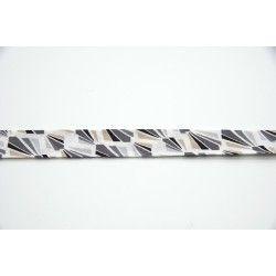 Biais rayons - gris  - 1Biais rayons dans un dégradé de gris, 100% coton Largeur : 20 mm 1 unité = 0m50 ; pour plusieurs longue