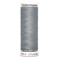 Bobine de fil gris souris 40 Gütermann 200m polyester pour tout coudre Gütermann - 1Bobine de fil gris souris coloris 40 Bobine