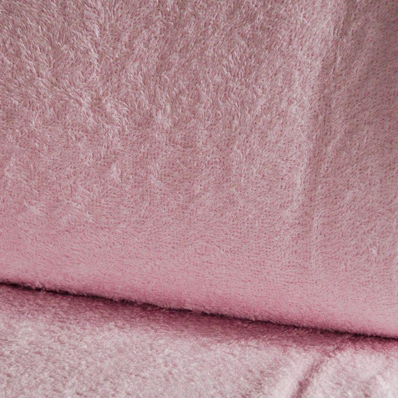 Eponge Californie X10cm- rose clair  - 1Tissuéponge Californie,rose clair 90% coton 10% polyester, certifié OekoTex Laize d'1m