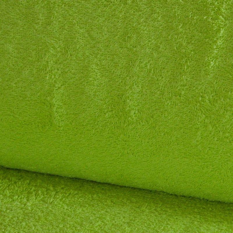 Eponge Californie X10cm- anis  - 1Tissuéponge Californie, anis 90% coton 10% polyester, certifié OekoTex Laize d'1m42 Le tissu