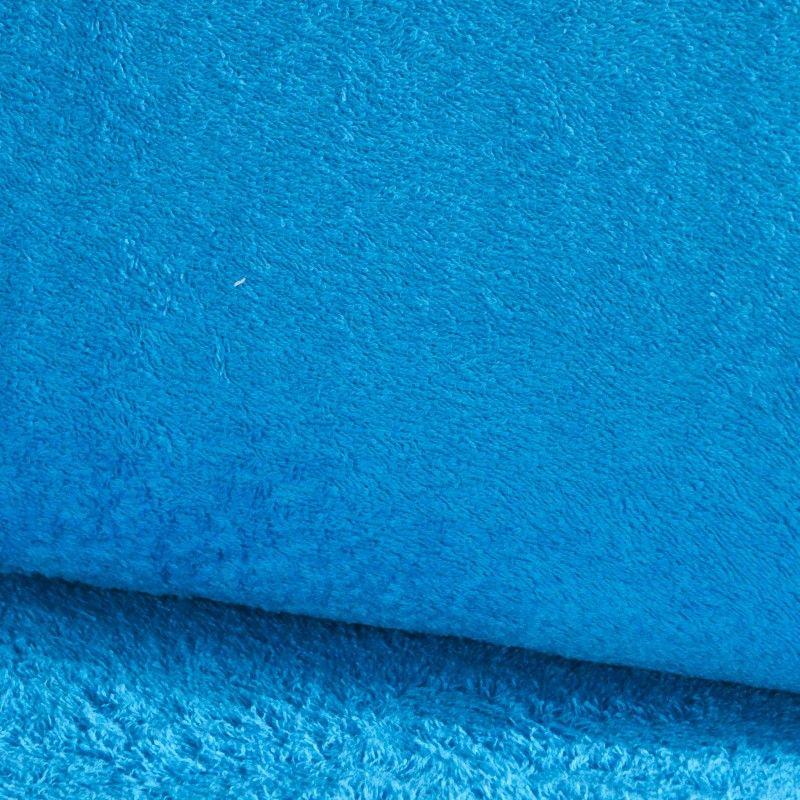 Eponge Californie X10cm- Azur  - 1Tissuéponge Californie, azur 90% coton 10% polyester, certifié OekoTex Laize d'1m42 Le tissu