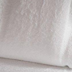Eponge Californie X10cm- blanc  - 1Tissuéponge Californie, blanc 90% coton 10% polyester, certifié OekoTex Laize d'1m42 Le tiss