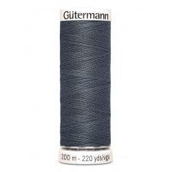 Bobine de fil gris anthracite 93 Gütermann 200m polyester pour tout coudre Gütermann - 1Bobine de fil gris anthracite coloris 93