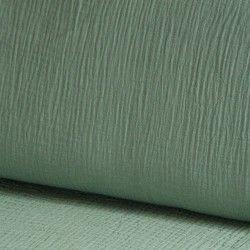 Tissu Double gaze coton X10cm- céladon  - 1Double Gaze -vert céladon 100%coton , certifié OekoTex Laize d'1m30 Le tissu est ve