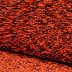 Tissu jersey fluo et noir X10cm- orange  - 1Tissu jersey noir et fluo - orange 47% coton 47% polyester 6% élasthanne Laize d'1m